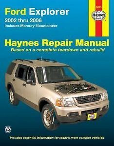 2002 2006 haynes ford explorer repair manual 1563926512 ebay. Black Bedroom Furniture Sets. Home Design Ideas