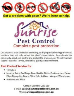 Sunrise Pest Control Services