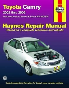 2002 2006 haynes toyota camry repair manual 1563927624 ebay. Black Bedroom Furniture Sets. Home Design Ideas