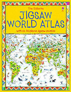 The Usborne Jigsaw World Atlas (Usborne Jigsaw Books), King, Colin | Hardcover B