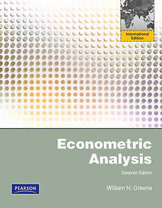 Econometric Analysis by William H. Greene (Paperback, 2011)