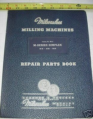 Kearney Trecker Milwaukee Simplex Mill M18 24 30 Manual