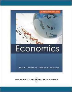 Economics by Paul A. Samuelson, William D. Nordhaus (Paperback, 2009)