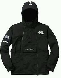 Supreme X The North Face Steep Tech Hooded Rain TNF Black Outdoor Jacket New Size L