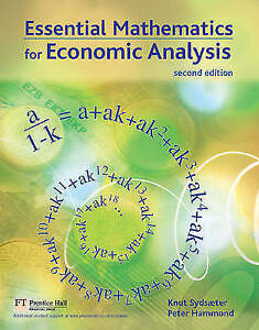 Essential Mathematics for Economic Analysis by Peter Hammond, Knut Sydsaeter...