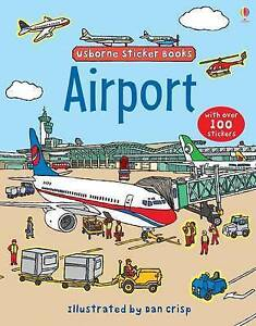 Airport (Usborne Sticker Books), Good Condition Book, Brooks, Felicity, ISBN 978