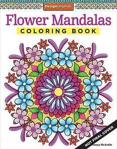 Image Is Loading Flower Mandalas Coloring Book Fun Design