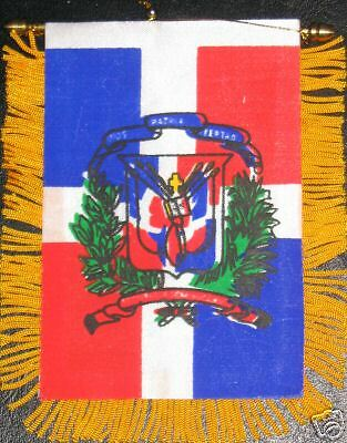 Dominican Republic Flag Mini Banner NEW