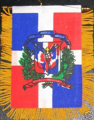 Dominican Republic Flag Mini Banner NEW