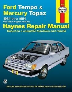 Ford-Tempo-and-Mercury-Topaz-1984-1994-by-John-Haynes-1989-Paperback
