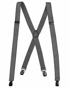 5 pairs of mens grey suspenders - one size fits all