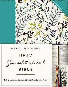 NKJV Journal the Word Bible Cloth over Board Blue Floral Red Letter - Norwich, United Kingdom - NKJV Journal the Word Bible Cloth over Board Blue Floral Red Letter - Norwich, United Kingdom
