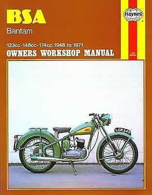 BSA Bantam Haynes Manual 1948-71 D1 D3 D5 D7 D10 D14 D175 Silver Bantam