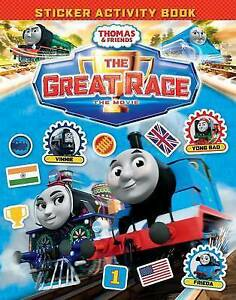 THOMAS-amp-FRIENDS-THE-GREAT-RACE-MOVIE-STICKER-BOOK-9781405281577