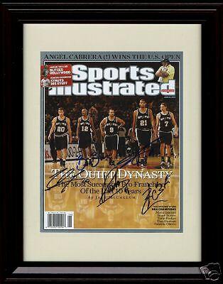 Framed Tim Duncan Sports Illustrated Autograph Print San Antonio Spurs