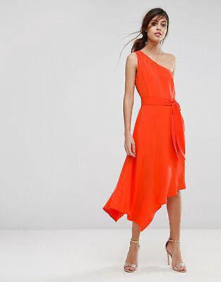 e5bf715a2a Asymmetric orange cocktail dress