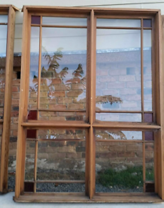 Western Red Cedar Colonial Wood Windows LOT Stained Glass detail Tumbi Umbi Wyong Area Preview