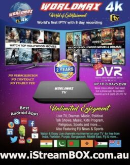 Worldmax 4k IPTV ,2 year warranty,Hindi,Nepali,Pakistani,Bangla TV
