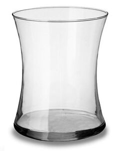 "8"" Clear Glass Gathering Vase 6.5"" opening NEW Half Price"
