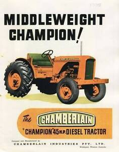 Chamberlain 9G Tractor Parts Hamilton Central Highlands Preview