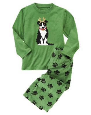 Gymboree Antlered Dog Reindog Fleece Pajamas Gymmies 18-24 Mo Free Shipping