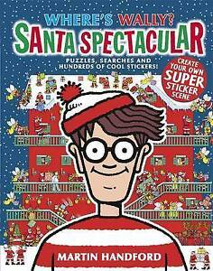 Where's Wally? Santa Spectacular by Martin Handford NEW PAPERBACK BOOK KIDS XMAS