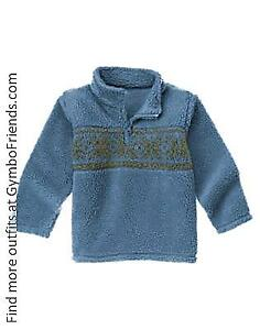 NWT Gymboree Boys S(5-6) Antique Truck Fair Isle Sherpa Pullover