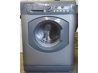 Silver hotpoint washing machine