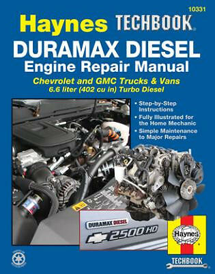 2001-2012 Duramax Diesel 6.6L Engine Repair Service Workshop Manual Book 0435