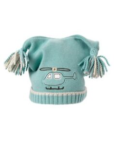GYMBOREE TINY COPTER Knit Sweater Jacket and BNWT Hat