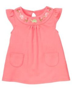 Gymboree TULIP GARDEN turtles and tulips swing top size 5 NWT