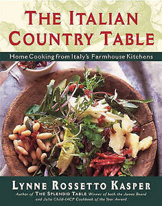 NEW The Italian Country Table by Lynne Rossetto Kasper