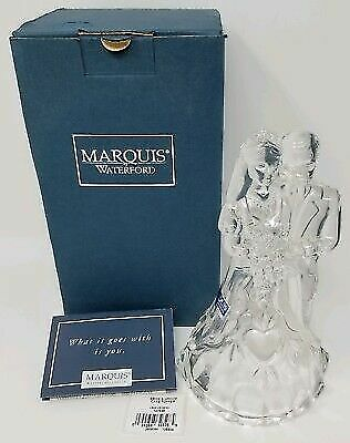 "NEW MARQUIS By WATERFORD ""Romance"" Bride & Groom Cake Topper AUTHORIZED DEALER"