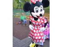 Mrs Minnie mouse mascot cartoon costumes, Birthday,Halloween costume adult size