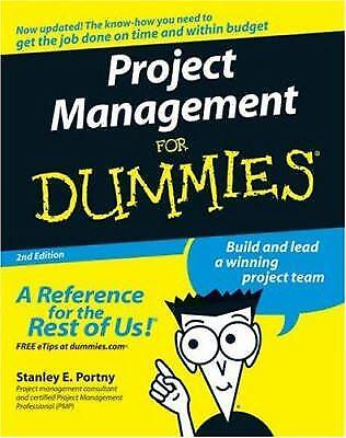 Project Management For Dummies By Stanley E  Portny