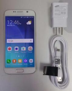 Samsung Galaxy S6 32GB White B2 SM-G920W8 Unlocked LTE AWS 30 Days Warranty