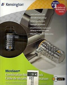 Kensington MicroSaver Combination Notebook Lock