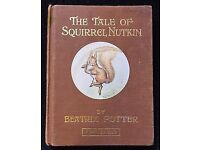 The Tale of Squirrel Nutkin 1903 vintage book and The Tale of Peter Rabbit Beatrix