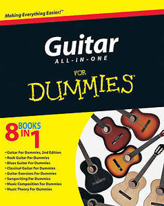 Guitar All-in-One For Dummies, Acceptable, Consumer Dummies, Book