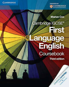Cambridge IGCSE First Language Coursebook by Marian Cox Paperback 2009 - Cambridge, United Kingdom - Cambridge IGCSE First Language Coursebook by Marian Cox Paperback 2009 - Cambridge, United Kingdom