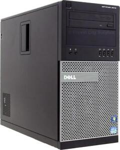 DELL 9010 QUAD CORE i5 COMPUTER - FAST MACHINE WITH 500G HARD DRIVE - AMAZING OFF-LEASE PRICES !!