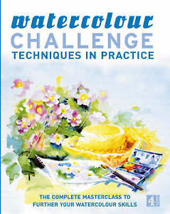 """""""Watercolour Challenge"""": Techniques in Practice-ExLibrary"""