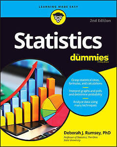 Statistics For Dummies by Deborah J. Rumsey 2nd edition 2016 NEW