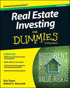 Real Estate Investing for Dummies by Tyson, Eric 9781118948217 -Paperback