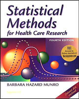 Statistical Methods for Health Care Research  4th ed