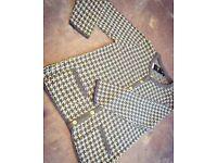 *NEW* Women's Ladies Bon Marche Grey Glitter Round Neck Knitted Winter Cardigan Jumper Size M