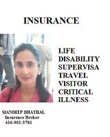 CALL TO GET LIFE, DISABILITY, VISITOR, AND SUPER VISA INSURANCE