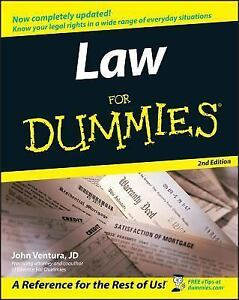 Law-for-Dummies-by-John-Ventura-2005-Paperback-Revised