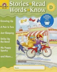 NEW Stories to Read - Words to Know, Book D by Evan Moor