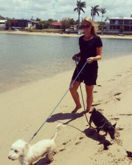 Pet Sitter and Dog Walker with Blue Card
